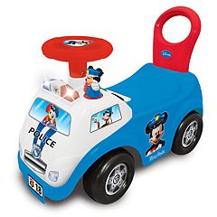 Disney's Mickey Mouse My First Mickey Police Car Light & Sound Activity Ride-On Vehicle