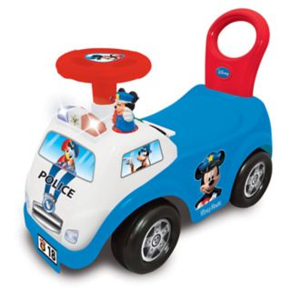 Disney's Mickey Mouse My First Mickey Police Car Light & Sound Activity Ride-On Vehicle by Kiddieland