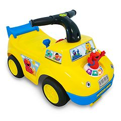 Sesame Street Elmo School Bus Light & Sound Activity Ride-On Vehicle by Kiddieland