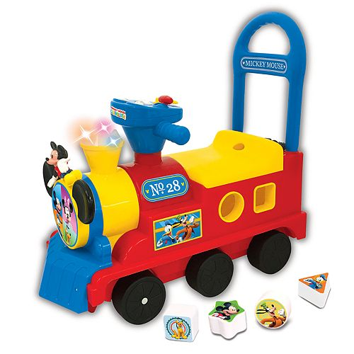 Disney's Mickey Mouse Clubhouse Play n' Sort Activity Train Ride-On Vehicle by Kiddieland