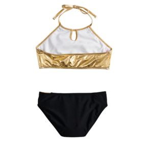 Girls 4-16 SO® Time To Shine Halter Bikini Swimsuit Set