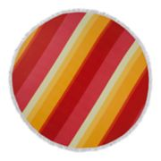 Seaside Living Round Sunset Stripe Beach Towel