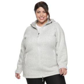 Plus Size New Balance Hooded Fleece Jacket