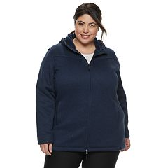 Plus Size New Balance Hooded Fleece Jacket