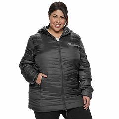 Plus Size New Balance Hooded Quilted Puffer Jacket