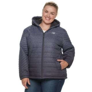 Plus Size New Balance Hooded Sherpa-Lined Puffer Jacket