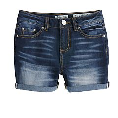 Girls 7-16 Indigo Rein Kennedy High Rise Cuffed Jean Shorts