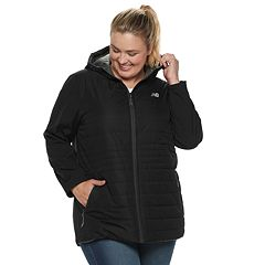 Plus Size New Balance Hooded Anorak Puffer Jacket