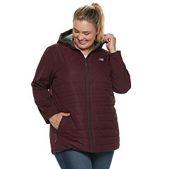 Plus Size New Balance Hooded Anorak Puffer Jacket