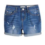 Girls 7-16 Indigo Rein High Rise Distressed Jean Shorts