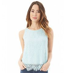 Juniors' IZ Byer Lace Knit Tank