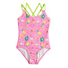 Girls 7-16 SO® Float On Donut, Unicorn, Ice Cream & Pineapple One-Piece Swimsuit