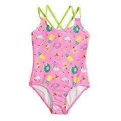Girls 7-16 SO® Float On Donut, Unicorn, Ice Cream & Pineapple One-Piece Swimsuit