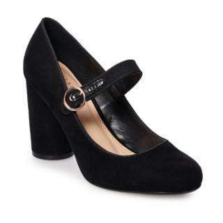LC Lauren Conrad Pecan Pie Women's High Heel Mary Jane Shoes