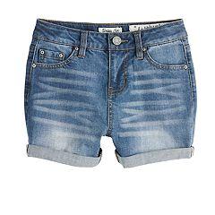 Girls 7-16 Indigo Rein Trixie High Rise Cuffed Jean Shorts