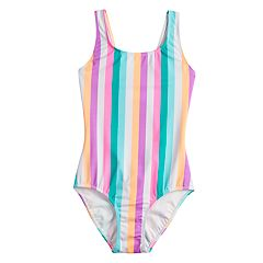 Girls 7-16 SO® Sun Stripes One-Piece Swimsuit