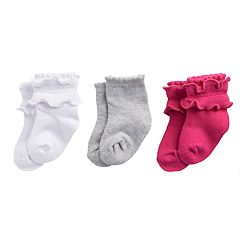 Baby / Toddler Girl Stride Rite 3-pack Ruffled Crew Socks
