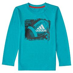 Boys 4-7x adidas climalite 'Three Stripe Life Run the Court' Basketball Graphic Tee