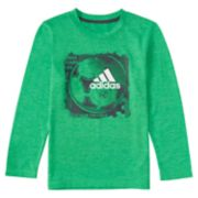 "Boys 4-7x adidas climalite ""Three Stripe Life Run the Court"" Basketball Graphic Tee"