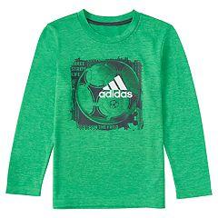 Boys 4-7x adidas climalite 'Three Stripe Life Run the Court' Basketball Graphic Tee