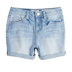 Girls 7-16 Indigo Rein Robin High Rise Cuffed Jean Shorts