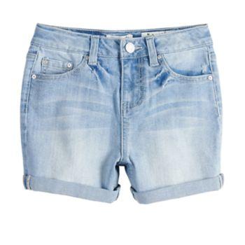 Girls 7-16 Indigo Rein Robin High Rise Cuffed Jean Shorts
