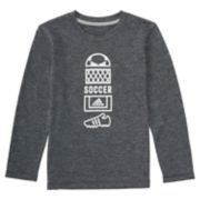 Boys 4-7x adidas Long-Sleeve Vertical Sport Collage Graphic Tee