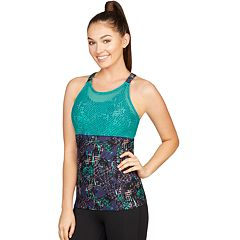 Women's Colosseum Bloom Mesh Overlay Tank