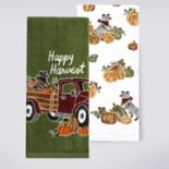 Celebrate Fall Together Harvest Truck Kitchen Towel 2-pack