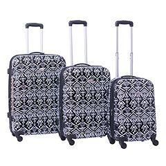 American Flyer 3-Piece Hardside Spinner Luggage Set
