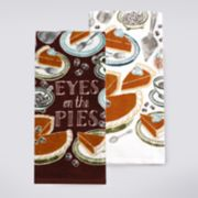 """Celebrate Fall Together """"Eyes on the Pies"""" Kitchen Towel 2-pack"""