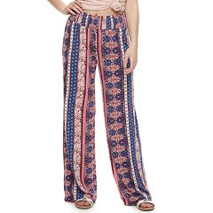 Juniors' Pink Republic Printed Palazzo Pants