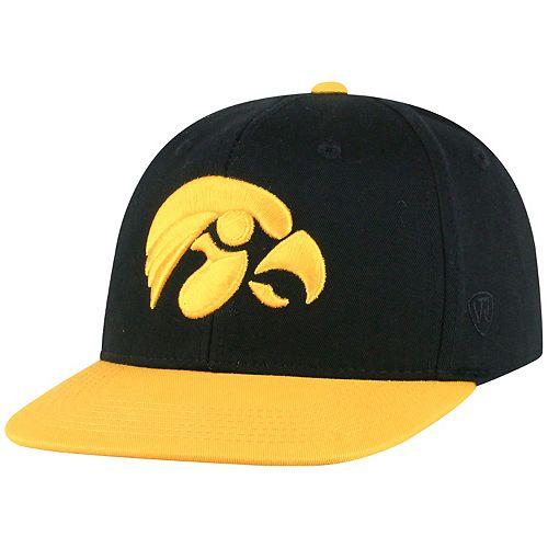 Youth Top of the World Iowa Hawkeyes Maverick Adjustable Cap