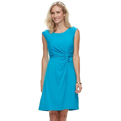 Women's Dana Buchman Twist Knot Fit & Flare Dress