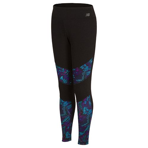 Girls 7-16 New Balance Print Moisture-Wicking Performance Tights