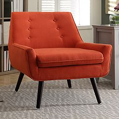 Linon Tiffany Retro Tufted Accent Chair