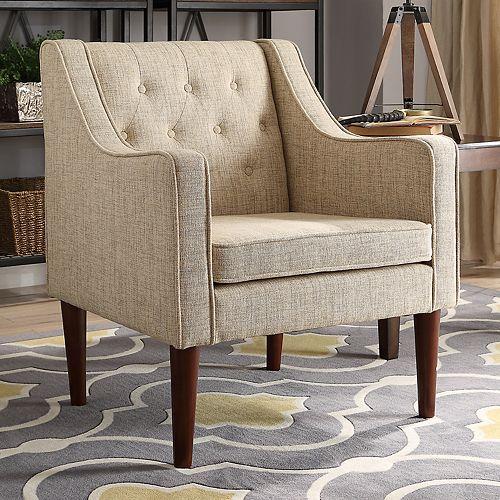 Linon Noda Tufted Arm Chair