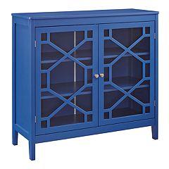 Linon Felicia Geometric 2-Door Storage Cabinet