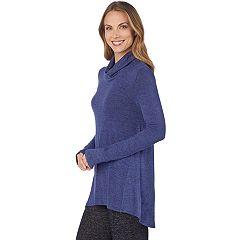 Women's Cuddl Duds Soft Knit Cowlneck Top