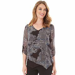 Women's Apt. 9® Asymmetrical Chiffon Popover Top