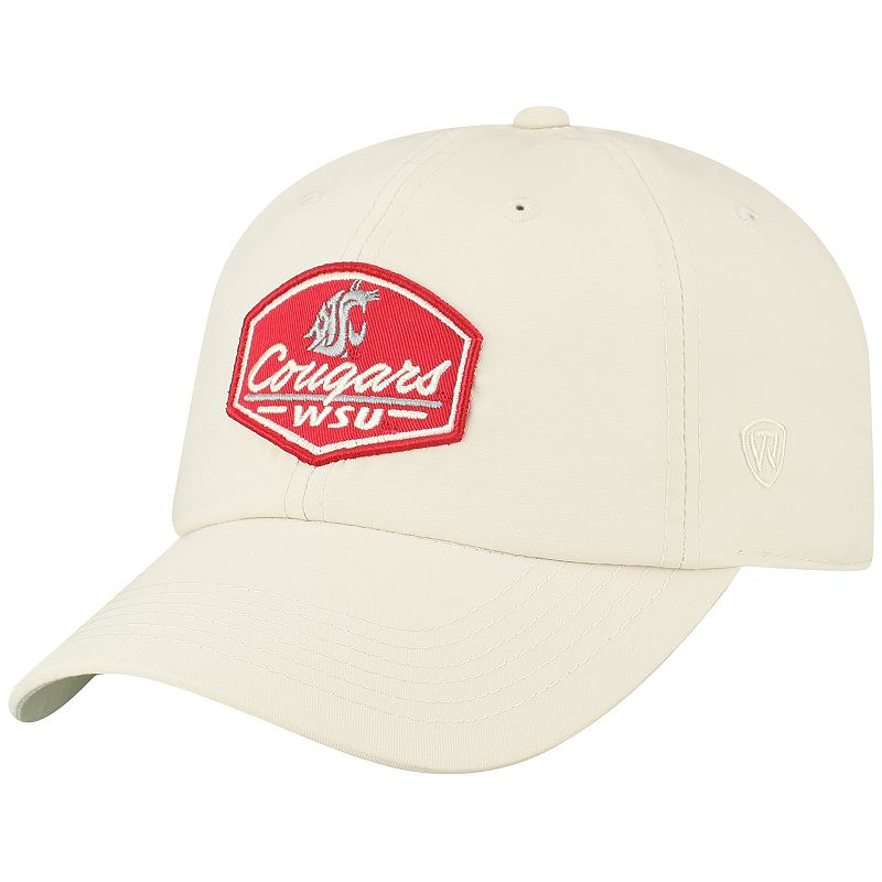 Adult Top of the World Washington State Cougars Onward Cap. Lt Beige