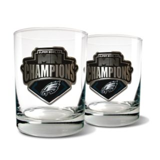 Philadelphia Eagles Super Bowl Champions 2-Piece 15-oz. Rocks Glass Set