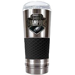 Philadelphia Eagles Super Bowl Champions Metal Emblem 24-oz. Vacuum Insulated Stainless Steel Tumbler Traveler Mug