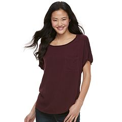 Juniors' SO® Solid Raglan Dolman Tee