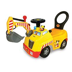 Disney's Mickey & The Roadster Racers Mickey Mouse Activity Crane Ride-On Vehicle by Kiddieland