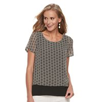 Women's Dana Buchman Layered Mesh Top