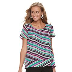 Women's Dana Buchman Double-Layer Tee