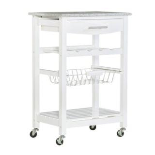 Linon Roger Granite Top Kitchen Cart