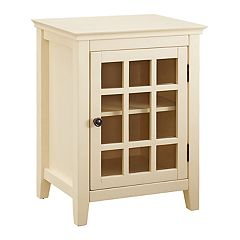 Linon Leslie Window Pane Storage Cabinet