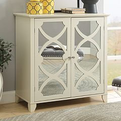 Linon Mirrored 2-Door Storage Cabinet